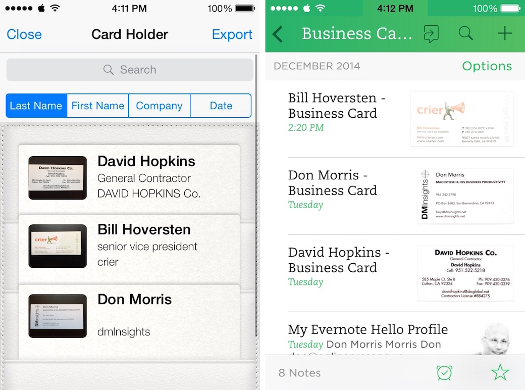 Scanning business cards for daylite dm insights shape business card reader and evernote reheart